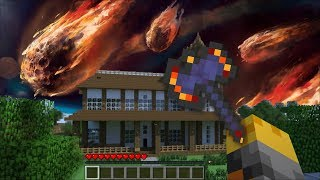 GIANT METEOR SHOWER APPEARS IN MY HOUSE IN MINECRAFT !! Minecraft Mods