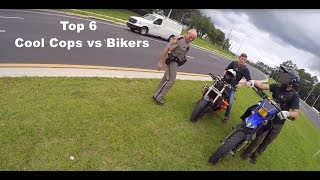 Top 6 Cool Cops vs Bikers | ENCOUNTERS & POLICE PULLOVERS 2018