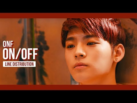 ONF (온앤오프) - ON/OFF Line Distribution (Color Coded)