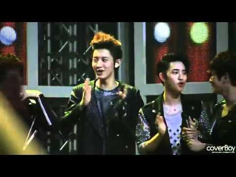 120526 EXO-K Chanyeol twinkle dance Cute @KBS Music Bank
