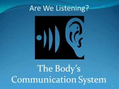 Are we listening Our Body's Communication System
