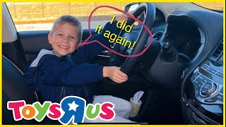 Driving Parents Car to Toys R Us with My Brother | Pop the Pig game and Pokémon Raichu
