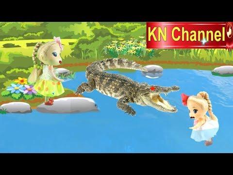 Đồ chơi trẻ em BÚP BÊ KN Channel VÀ CON TEM CỔ KỲ DIỆU tập 1 ĐẦM LẦY CÁ SẤU