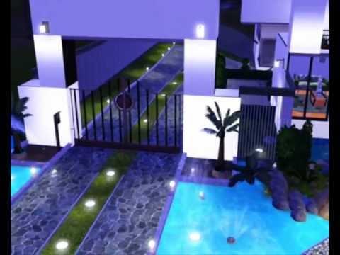 A casa mais bonita do the sims 3 youtube for Casa moderna sims 3 sin expansiones