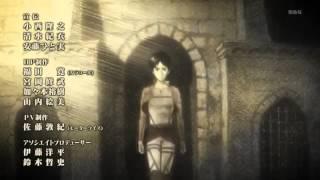 """Shingeki no Kyojin 進撃の巨人 ED / Ending- """"Utsukushiki Zankoku na Sekai""""-Yoko Hikasa"""