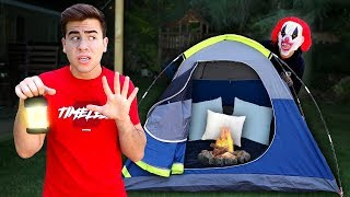 Camping Overnight In My Backyard Challenge.. **CANCELLED AT 3 AM**