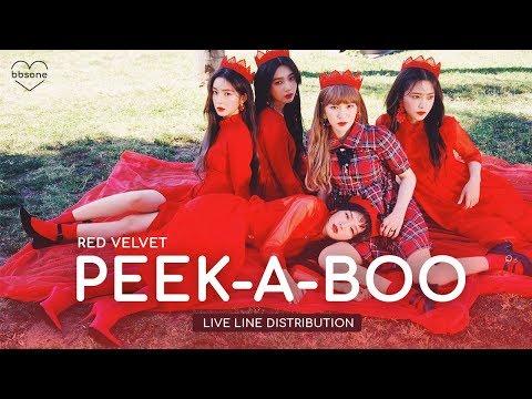 Red Velvet - Peek-A-Boo (Live) (Line Distribution w/ Adlibs)