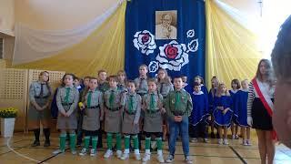 Święto Szkoły w ZPO im. JPII w Gościeradowie.Część 2. Występ harcerzy.