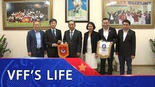 Chủ tịch VFF Lê Khánh Hải tiếp và làm việc với Chủ tịch KFA Chung Mong Gyu | VFF Channel