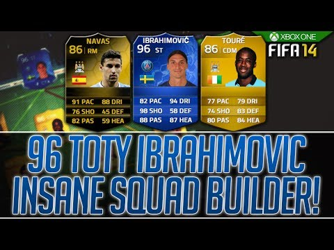 96 TOTY IBRAHIMOVIC! 4.75 MILLION COIN INSANE SQUAD BUILDER! FIFA 14 ULTIMATE TEAM!