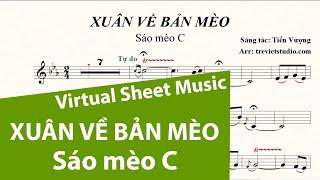 XUÂN VỀ BẢN MÈO ★ Sheet nhạc Beat chuẩn | Sáo mèo C | Virtual Sheet Music #trevietstudio Tiến Vượng
