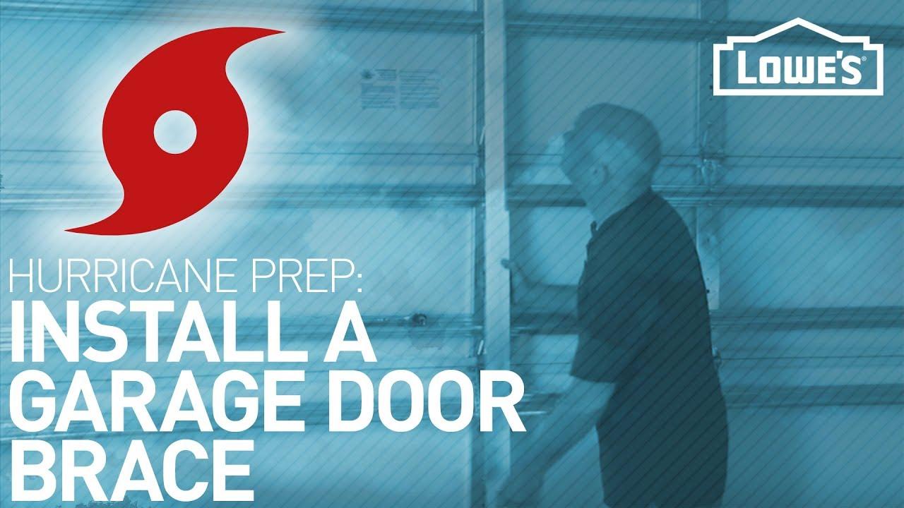 Installing A Garage Door Brace Hurricane Preparedness