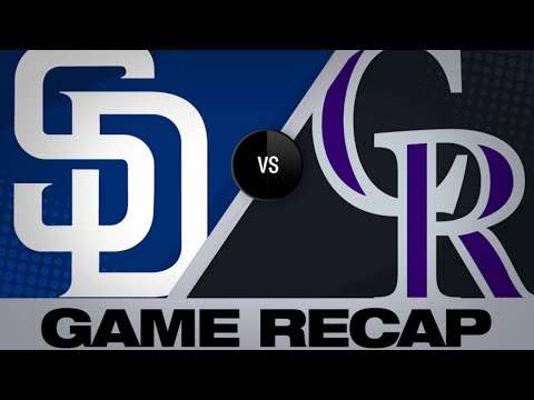 5/10/19: Rockies tally 17 hits in rout of Padres