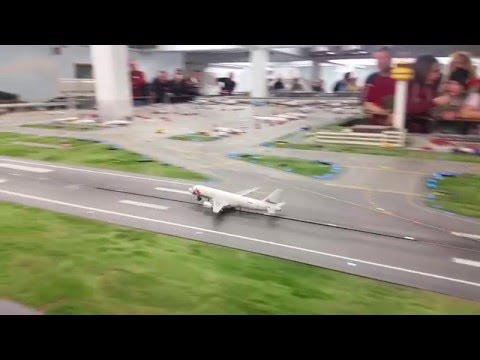 Takeoff of A320 from Knuffingen Airport, Miniatur Wunderland