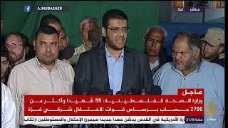 وزارة الصحة الفلسطينية : 55 شهيدا وأكثر من 2700 مصاب برصاص قوات ...