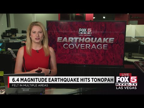 6.5 magnitude earthquake near Tonopah