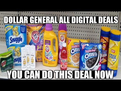 DOLLAR GENERAL ALL DIGITAL DEAL| YOU CAN DO THIS DEAL NOW