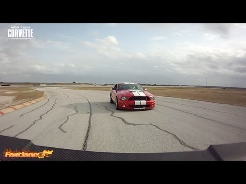 C6 Corvette and a Supercharged Mustang - Texas World Speedway