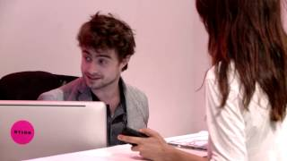 Daniel Radcliffe Was Our Receptionist for an Hour