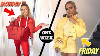 I wore ONLY solid COLOUR OUTFITS for a week!!