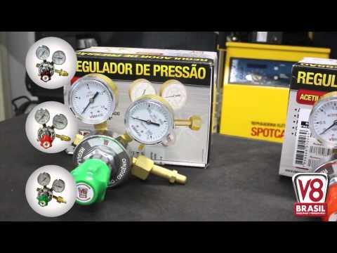 Regulador de Pressão para Argônio V8 Brasil - Vídeo explicativo