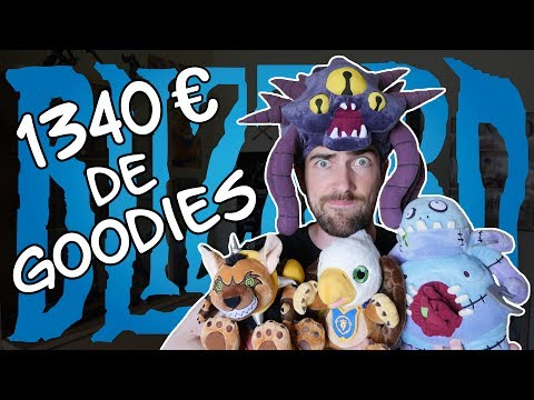 J'ai acheté 1340€ de goodies Blizzard ? - YouTube