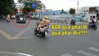 Police swung & scold car - CSGT đánh võng la Mitsubishi Jolie tan nát vì không nhường đường xe VIP