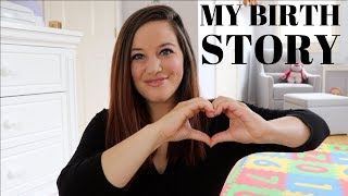 MY BIRTH STORY + grwm (how I cover my adult acne... spoiler... it looks awful)