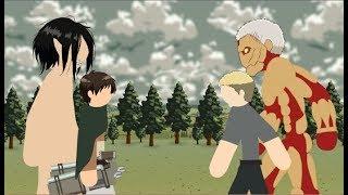Eren Vs Reiner Stick Fight!!