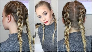 Dutch Braids: How to Hide Clip-Ins Extensions |GemmaCliffordxo