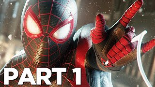 SPIDER-MAN MILES MORALES PS5 Walkthrough Gameplay Part 1 - INTRO (Playstation 5)
