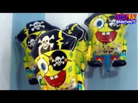 Balon Karakter Spongebob - Toys Kids Balloons Character Spongebob
