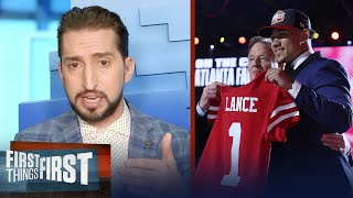 '49ers got this right' — Nick on San Francisco taking Trey Lance at No. 3 | NFL | FIRST THINGS FIRST