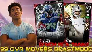 99 OVR MOVERS MARSHAWN LYNCH IS A TANK! MADDEN 17 ULTIMATE TEAM