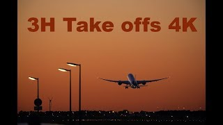 3 HOURS Plane Take off 2018 Relaxing Video - 4K