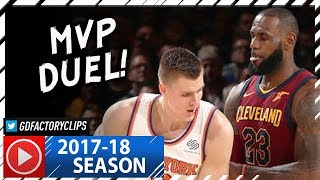 LeBron James vs Kristaps Porzingis MVP Duel Highlights (2017.11.13) Cavs vs Knicks - MUST SEE!