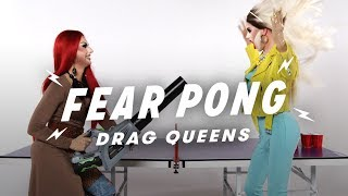 Drag Queens Play Fear Pong (Lucy Paradisco vs. Stacey Starstruck) | Fear Pong | Cut