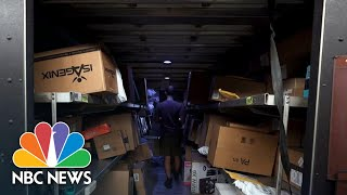 Concerned Delivery Drivers Busier Than Ever During Coronavirus Crisis | NBC Nightly News