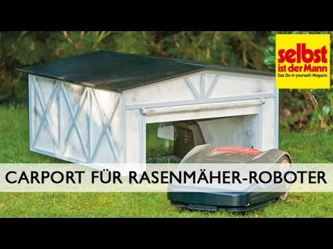 carport f r rasenm her roboter bauen musica movil. Black Bedroom Furniture Sets. Home Design Ideas