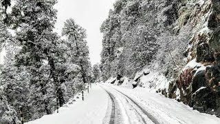 Dev Bhoomi uttarakhand || Auli road trip on bike ||snow fall.