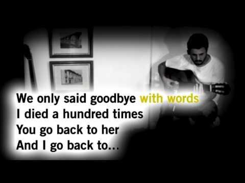 Amy Winehouse - Back to black - Acoustic Guitar Karaokê