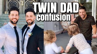 TRIPLETS AND TODDLER CONFUSE DAD FOR TWIN BROTHER AFTER CUTTING ALL HIS HAIR OFF