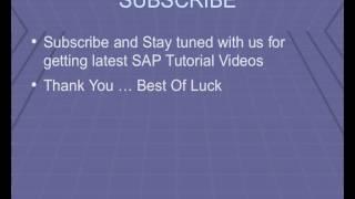 SAP Accounts Receivable Transaction Codes, Module Tutorial