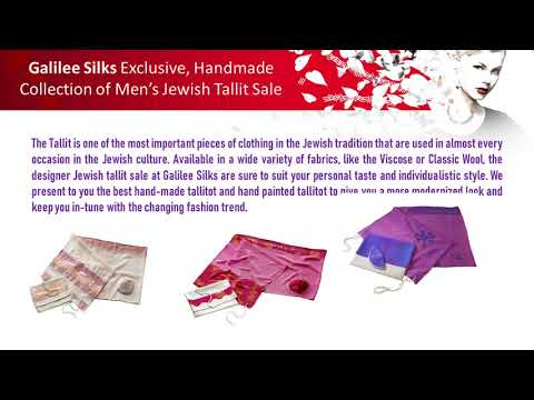 Galilee Silks Exclusive, Handmade Collection of Men's Jewish Tallit Sale