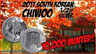 2017 South Korea 1/2 oz Chiwoo Cheonwang   10k Mintage! WOW!