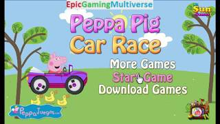 Peppa Pig Car Race Level 1 WalkThrough Gameplay - Driving A Car As Peppa Pig