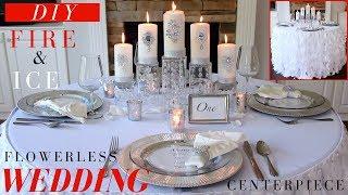 Flowerless Wedding Centerpiece | DIY Wedding Decoration Ideas | Fire & Ice Winter Wonderland
