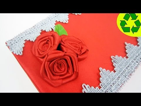 How to make a jewellery gift box with ribbon roses out of a