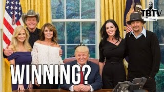 SELLOUT SARAH PALIN JOINS TED NUGENT AND KID ROCK AT WHITE HOUSE