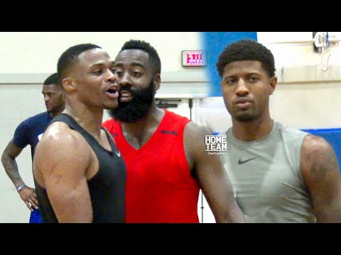 Russell Westbrook, James Harden & Paul George Go At It At Rico Hines UCLA Run